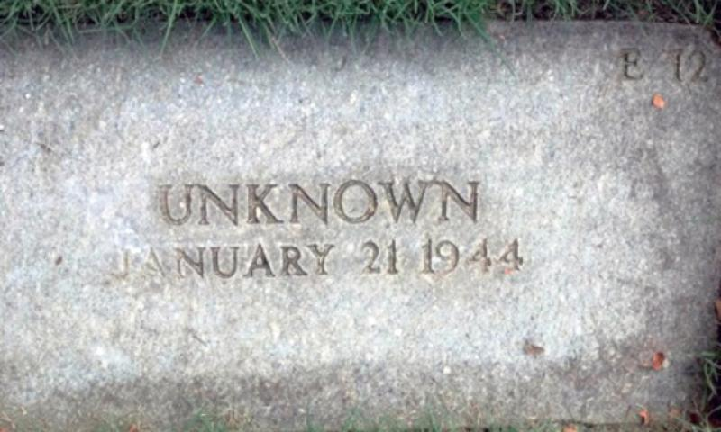 A grave marker at the Punchbowl in Hawaii. (Photo Courtesy of Rick Stone)