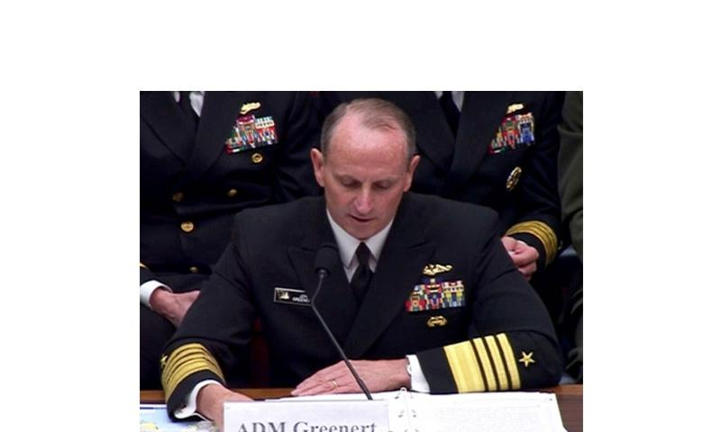 Chief of Naval Operations Adm. Jonathan Greenert testifies at a House Armed Services Committee hearing on March 12, 2014. (Pentagon Channel)