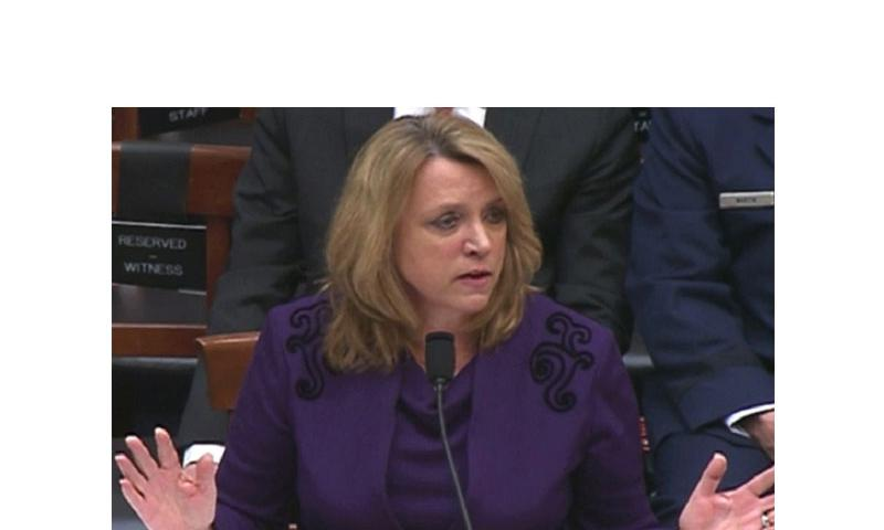 Air Force Secretary Deborah Lee James testifies before the House Armed Services Committee, March 14, 2014. (Pentagon Channel)