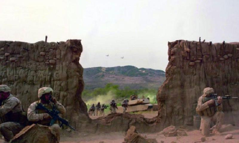 "A new Marine Corps ad called ""Wall"" was filmed at Camp Pendleton, Calif. (U.S. Marine Corps Ad)"