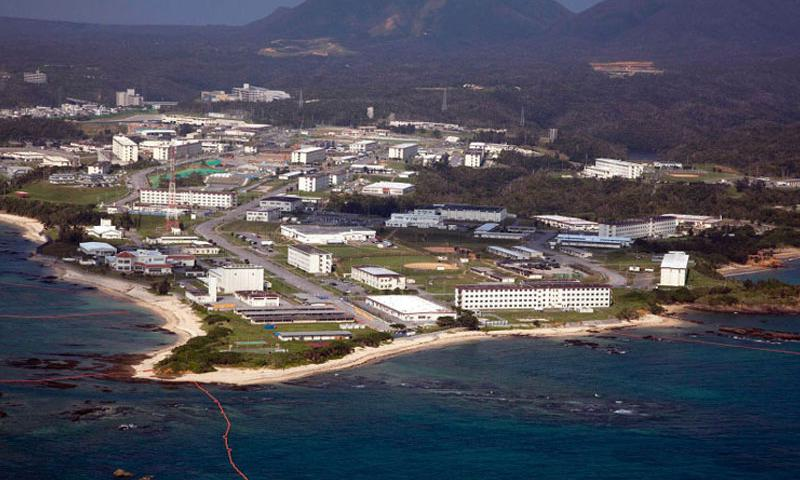An aerial view of Camp Schwab, Okinawa. The governor of Okinawa has ordered a Defense Ministry branch to suspend all work at the site where a key U.S. military air base is to be relocated. (Jose O. Nava/III Marine Expeditionary Force)