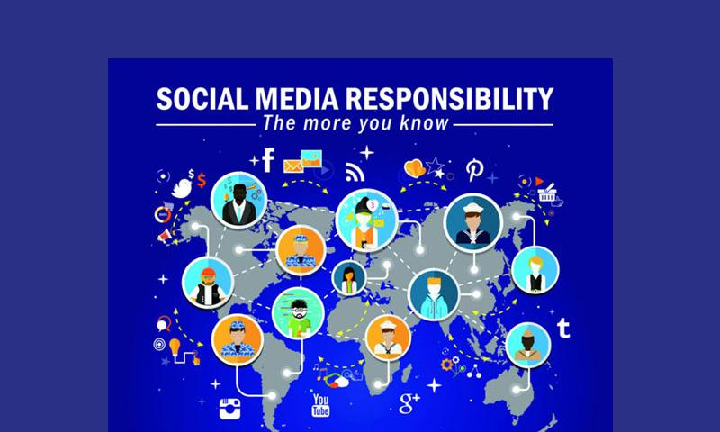 An information graphic about personal social media responsibility. (Navy Media Content Services)