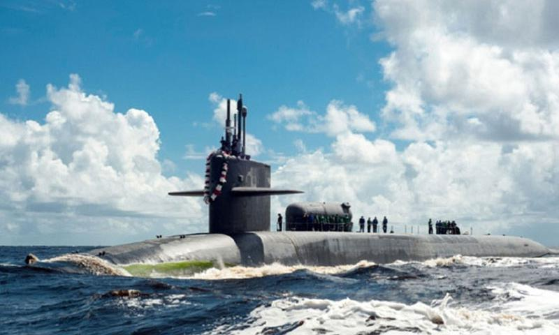 FERNANDINA BEACH, Fla. -- The Ohio-class guided-missile submarine USS Georgia returns to Naval Submarine Base Kings Bay July 15, 2012 following a one-year deployment. (James Kimber/U.S. Navy)