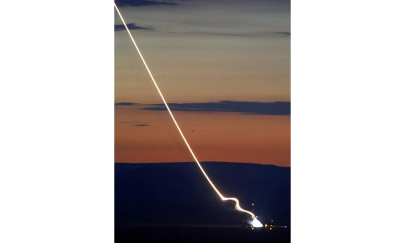 A Terminal High Altitude Area Defense (THAAD) element test is launched at the White Sands missile range in New Mexico July 12, 2006. (DOD)