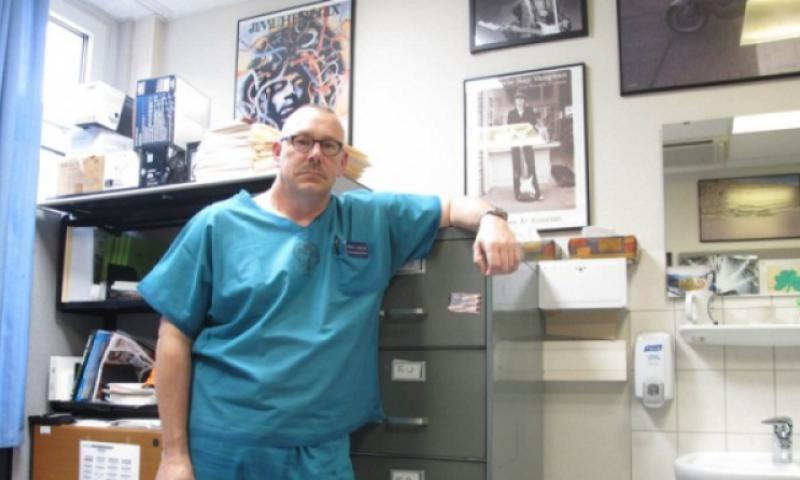 Dr. Jeff Wolff, a civilian physician at Landstuhl Regional Medical Center, is among the nearly 700 overseas civilians who the Defense Department says received a housing allowance in error. Without the benefit, Wolff says he is leaving DOD employment abroad and relocating to the U.S. (John Vandiver/Stars and Stripes)