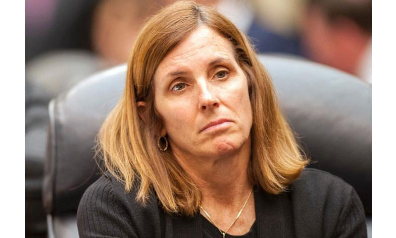 U.S. Rep. Martha McSally, R-Ariz., listens to comments during a House Committee on Armed Services hearing on the National Defense Authorization Bill on Wednesday, April 27, 2016. (Carlos Bongioanni/Stars and Stripes)