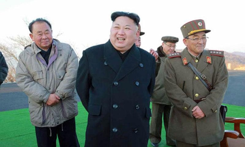 The Tuesday, March 7, 2017, edition of North Korea's official Rodong Sinmun newspaper published several undated photos of the country's March missile launch, as well as photos of North Korean leader Kim Jong Un reportedly overseeing the test. (COURTESY OF RODONG SINMUN)