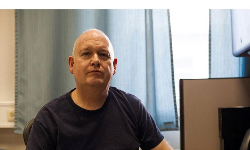 Army clinical psychologist Stephen Fitzgerald, a Navy reservist, is about to lose his Living Quarters Allowance because he was in Germany when he applied for his Army job. He was only in Germany, he said, because the Navy deployed him there to work at Landstuhl Regional Medical Center. (Matt Millham/Stars and Stripes)