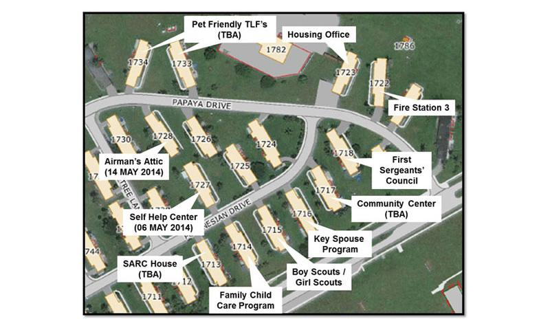 """The 36th Civil Engineer Squadron Self-Help Center moved to a new location in base housing May 2. The new location is in the new """"Town Center"""" concept for housing. (Courtesy graphic)"""