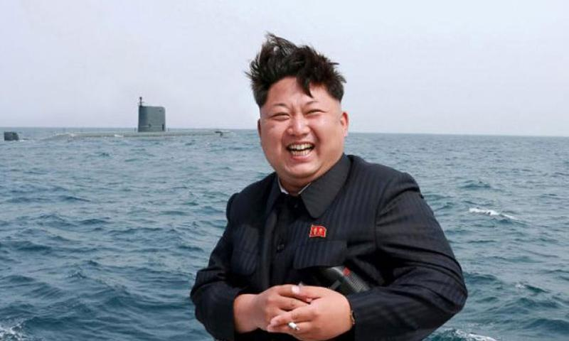North Korean leader Kim Jong Un watches the test-fire of a strategic submarine underwater ballistic missile in this undated photo released by North Korea's Korean Central News Agency (KCNA) in Pyongyang on May 9, 2015. (KCNA)