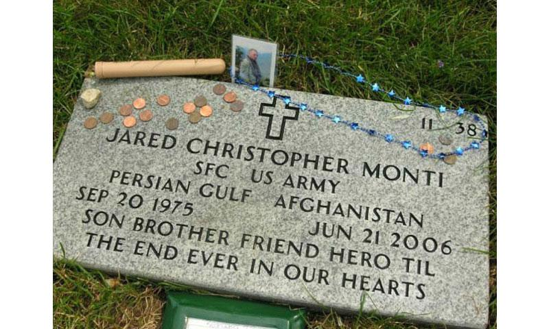 The gravestone of Sgt. 1st Class Jared Monti who was posthumously awarded the Medal of Honor for his actions in Afghanistan. (U.S. Army/Courtesy photo) - See more at: http://okinawa.stripes.com/news/father-recalls-sons-sacrifice-led-medal-honor#sthash.FuwkT09d.dpuf