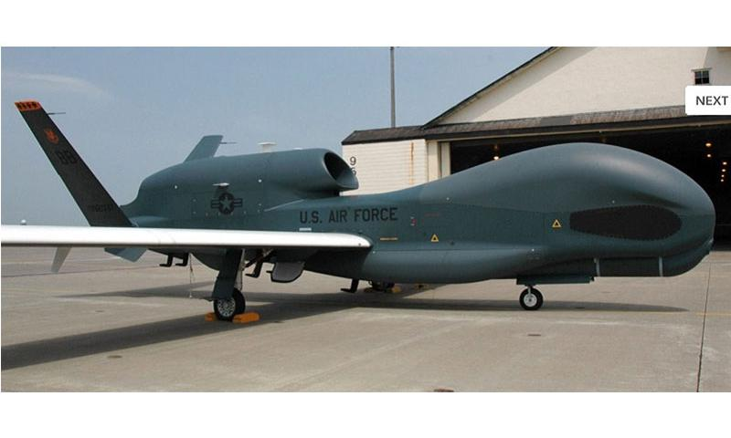 The U.S. military deployed two RQ-4 Global Hawk surveillance aircraft to Misawa Air Base, Japan, this week. The drones will support U.S. intelligence-gathering throughout the Pacific theater, officials say. (SETH ROBSON/STARS AND STRIPES)