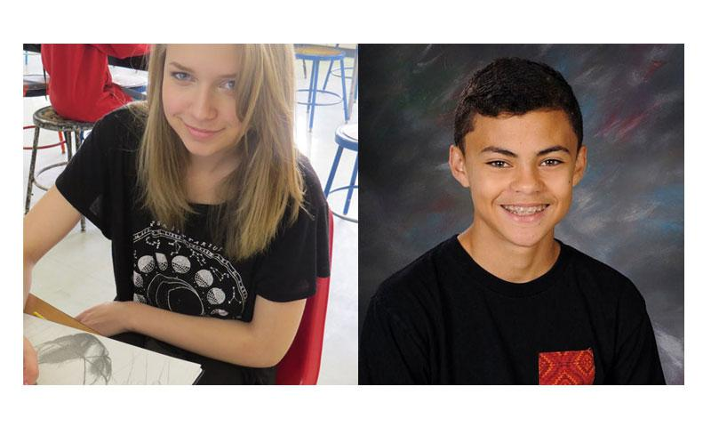 (Left) Kayla Haven, E.J. King High School (Right) Isaiah Shinnery, Yokota High School