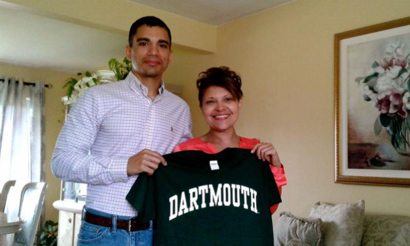 Carlos Tigreros and his mom. Courtesy photo