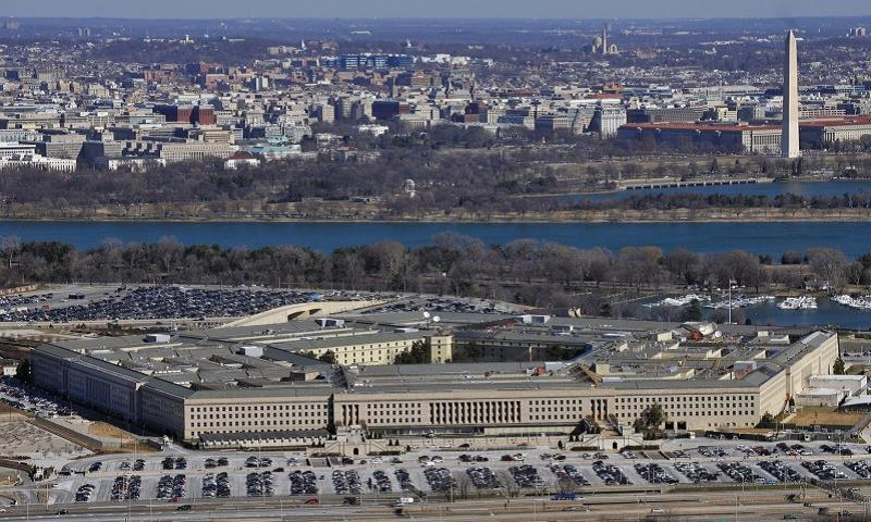The Pentagon with the Washington Monument and National Mall in the background. (U.S. DEPARTMENT OF DEFENSE)