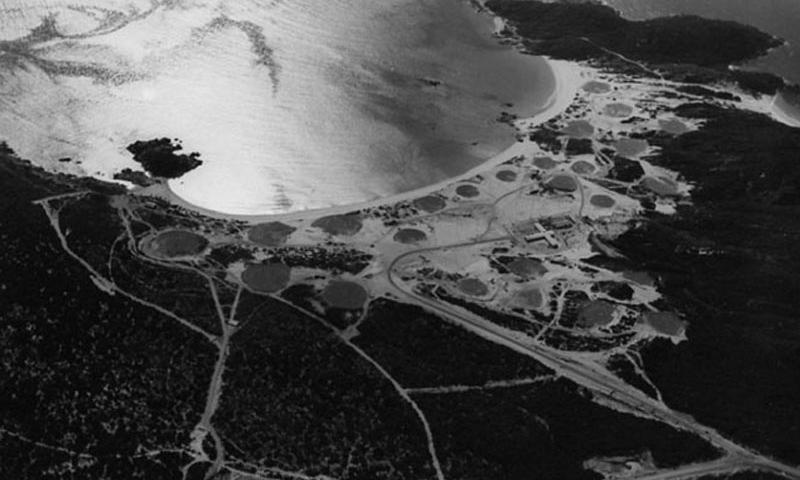 The transmitter site of Naval Communication Station Cam Ranh Bay, in a photo taken sometime between 1970 and 1971, shows a portion of the sprawling base used by tens of thousands of U.S. and South Vietnamese servicemembers during the Vietnam War. (COURTESY OF THE COLLECTION OF WILLIAM J. LONGHI/U.S. NAVY)