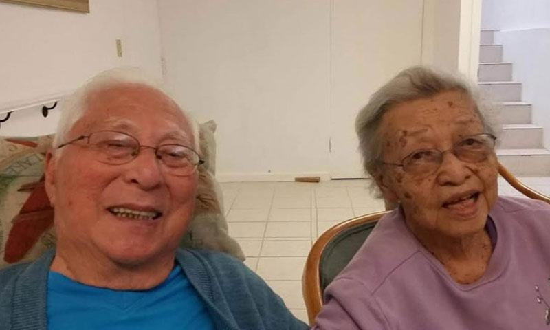 Noboru and Elaine Kawamoto pose in this undated photo. The couple, married for 68 years, have seen each other only every couple of weeks the past two years because Hawaii state rules don't allow them to live together in Noboru's nursing home. (Courtesy of the Kawamoto family)