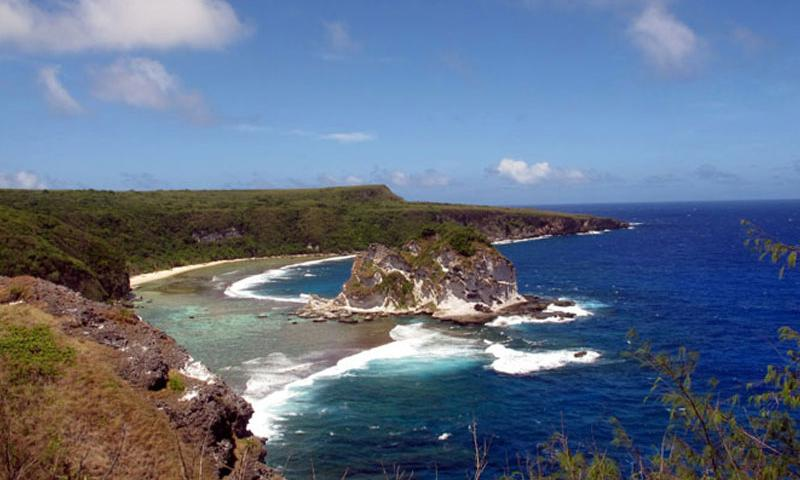 The outlook to Bird Island is also the end of the line for paved roads on the Saipan's north coast. Erik Slavin/Stars and Stripes (Erik Slavin/Stars and Stripes)