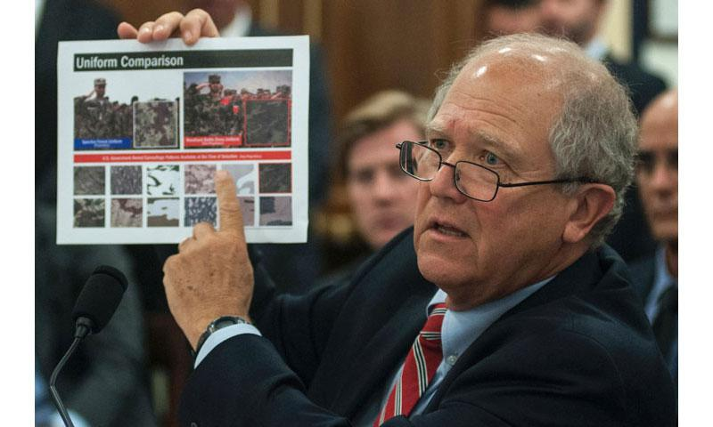 Special Inspector General for Afghanistan Reconstruction John Sopko testifies before the Oversight and Investigations subcommittee of the House Committee on Armed Services on Capitol Hill in Washington, D.C., on Tuesday, July 25, 2017. (CARLOS BONGIOANNI/STARS AND STRIPES)