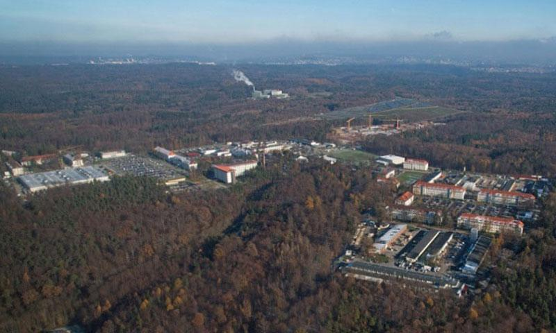 The military is investigating the theft of arms from a weapons room at U.S. Army Garrison Stuttgart. Panzer Kaserne, home to the garrison's headquarters, is shown here. (Martin Greeson/U.S. Army)