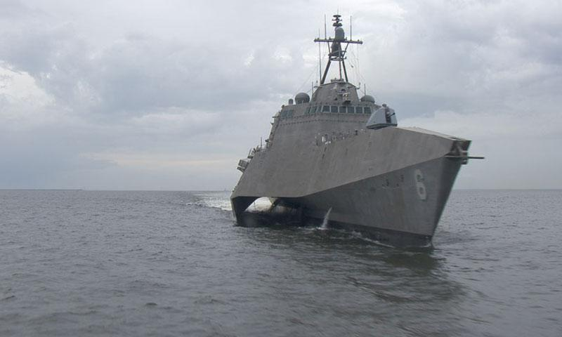 The future USS Jackson is the sixth littoral combat ship (LCS) to be delivered to the Navy, the third of the Independence variant to join the fleet. (U.S. Navy photo)