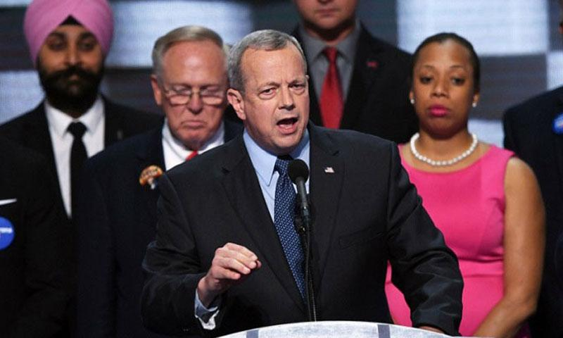 Retired Gen. John Allen speaks during the last day of the Democratic National Convention in Philadelphia on Thursday, July 28, 2016. (Olivier Douliery, Abaca Press/TNS)