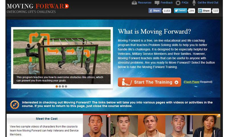Moving Forward is a website designed to teach problem-solving skills to members of the military community. DOD graphic