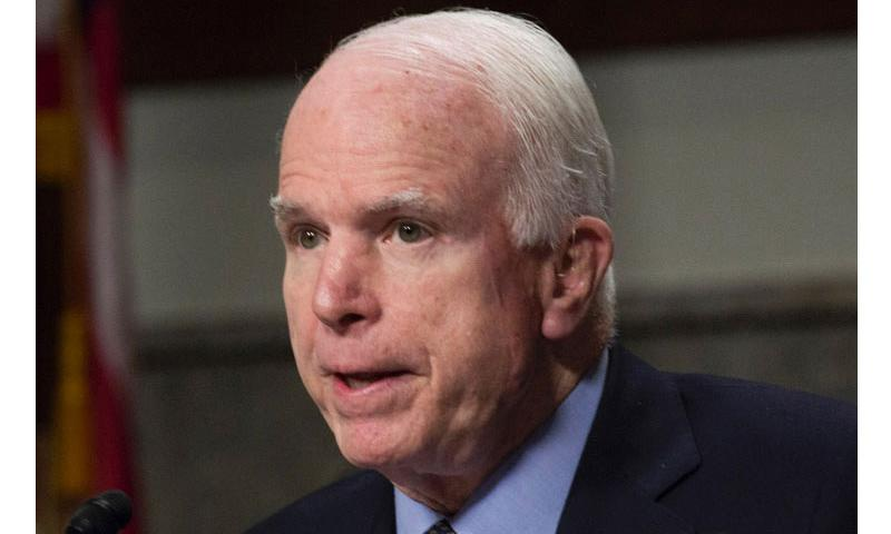 Sen. John McCain, R-Ariz., speaks at a Senate Armed Services Committee hearing in July, 2015. (Stars and Stripes)