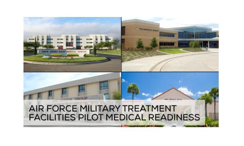 Air Force military treatment facilities are the key to the Air Force Medical Services readiness. From the 60th MDG at David Grant Medical Center, Travis AFB, Calif., to 72nd MDG at Tinker AFB, Okla., to 56th MDG, Luke AFB, Ariz., to 45th MDG, Patrick AFB, Fla, and beyond, military treatment facilities are the AFMS primary readiness platforms.