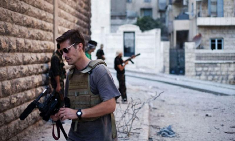Former Stars and Stripes reporter James Foley in Syria, 2012. (Manu Brabo/freejamesfoley.org)