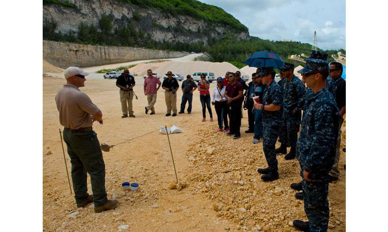 Representatives from dozens of government,  military, aviation and shipping organizations partnered to educate and understand threats to airline security and commercial aircraft in Mangilao, Aug. 23.