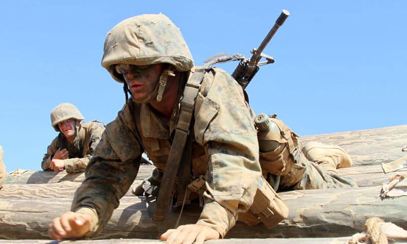 Marine Corps Pvt. Zachery T. Douthitt at Camp Pendleton, Calif., Aug.14, 2012. Marine Corps photo by Cpl. Walter Marino III.