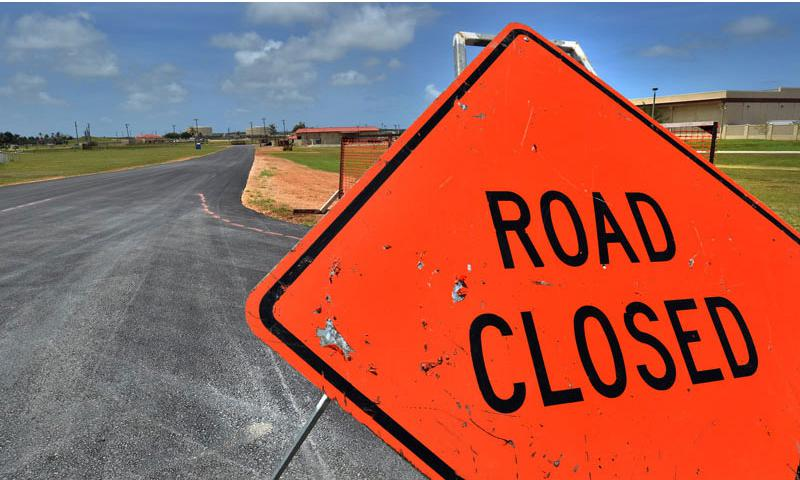 ANDERSEN AIR FORCE BASE, Guam - Road signs can be found on and around the roads on Andersen Air Force Base. Commuters should be aware of detours and road closures in order to make travel safe and efficient. (U.S. Air Force Photo by Staff Sgt. Alexandre Montes/RELEASED)