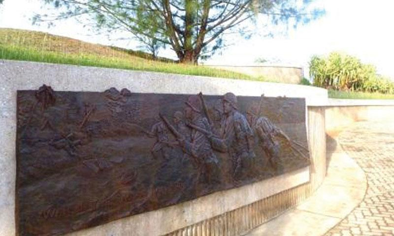 Bronze Relief at Asan Bay Overlook (NPS Photo)