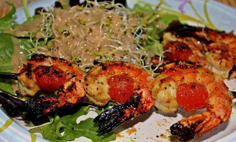 Grilled Ouzo Shrimp