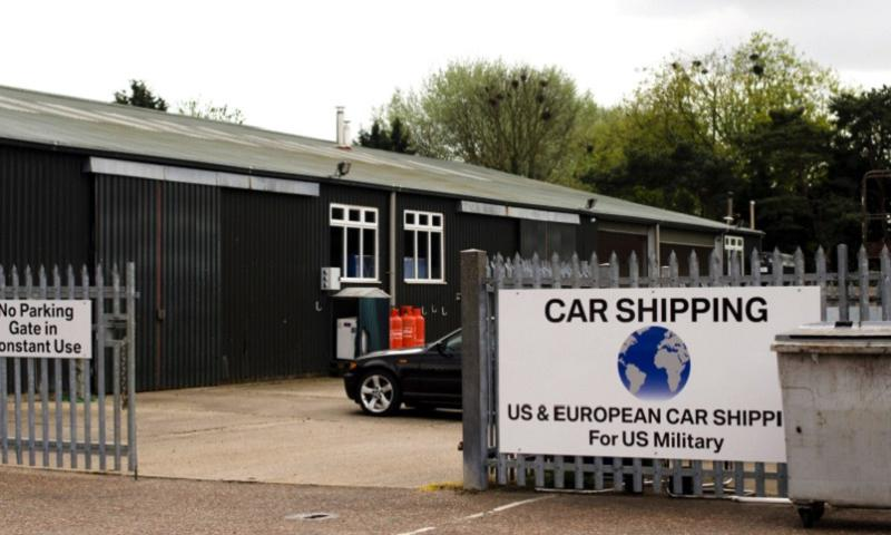 International Auto Logistics opened new vehicle processing centers, like this one in Mildenhall, England, when it took over the contract in May to ship servicemembers' vehicles. The company has faced criticism for late deliveries and not being able to provide accurate information about the location of vehicles. (Adam L. Mathis/Stars and Stripes)