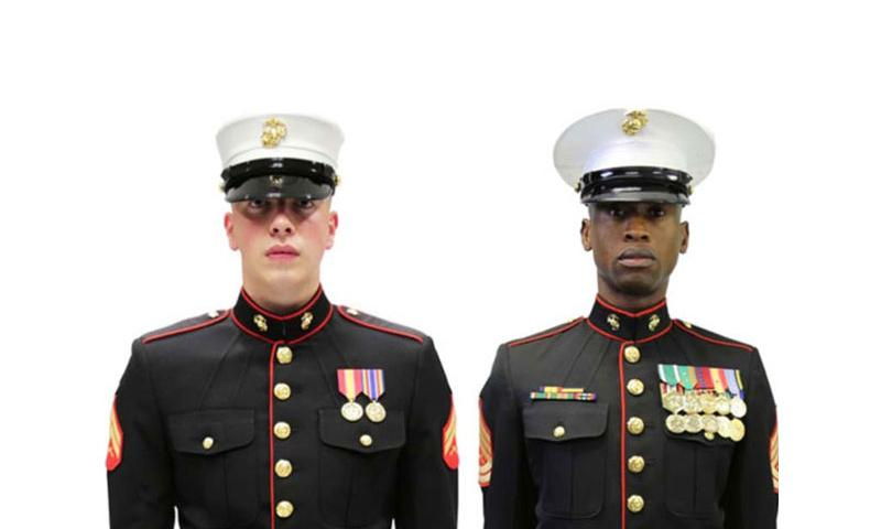 A Marine Corps Uniform Board survey asked whether Marines would prefer the Dan Daly cap, left, or the current male cover. (USMC)