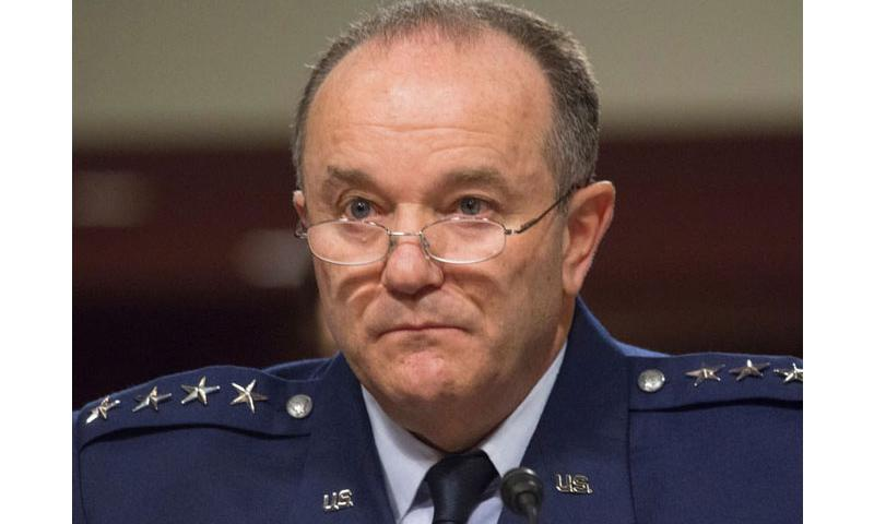 In an April 30, 2015 file photo, Gen. Philip Breedlove, commander of U.S. forces in Europe, listens to the opening statements at a Senate Armed Services Committee hearing in Washington. (Joe Gromelski/Stars and Stripes)