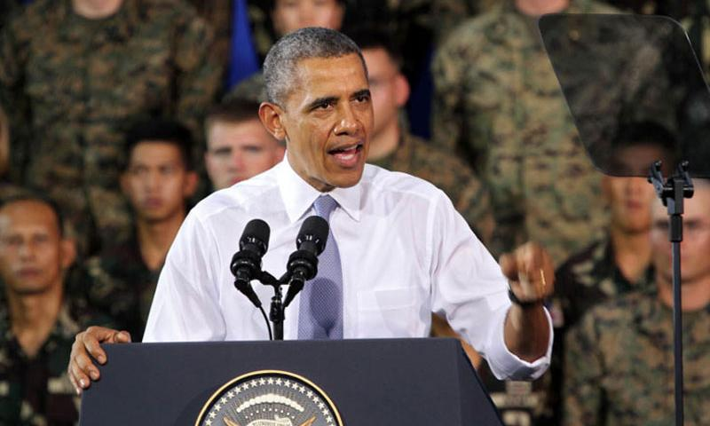 U.S. President Barack Obama speaks to Armed Forces of the Philippines and U.S. servicemembersin Manila, April 29, 2014. Obama arrived back in the Philippines Tuesday, Nov. 17, 2015, for a the Asia-Pacific Economic Cooperation summit this week. (Jason W. Fudge/U.S. Marine Corps)