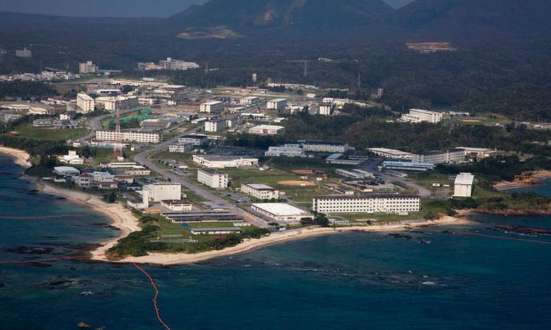 An aerial view of Camp Schwab in Okinawa, Japan. The Japanese government filed suit in Okinawa Tuesday, Nov. 17, 2015, in what is largely seen as the first step in the final showdown between Tokyo and Gov. (Photo by Jose O. Nava, U.S. Marines)