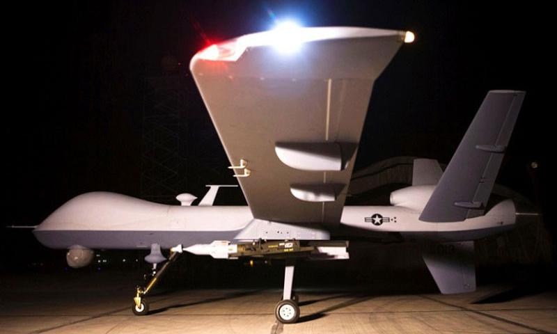 A file photo of an MQ-9 Reaper on a ramp in Afghanistan. (U.S. Air Force)