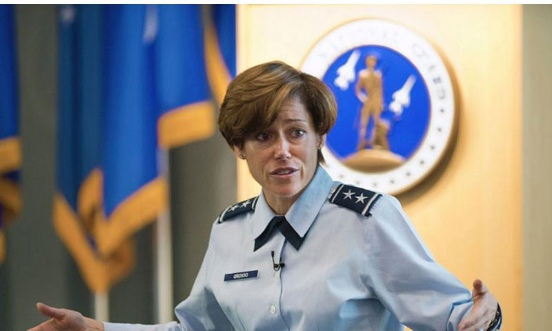 """Maj. Gen Gina Grosso, director of the Air Force Sexual Assault Prevention and Response, addresses commanders at Joint Base Andrews, Md. on Nov. 18, 2014. At a Pentagon briefing Thursday, Dec. 4, 2014, Grosso seemed to downplay concerns of retaliation saying it seems more like a """"peer to peer"""" problem. """"Some of it is ... people thinking, 'I want to help you, but I don't know how to approach you.'"""" (Marvin R. Preston/U.S. Air Force)"""