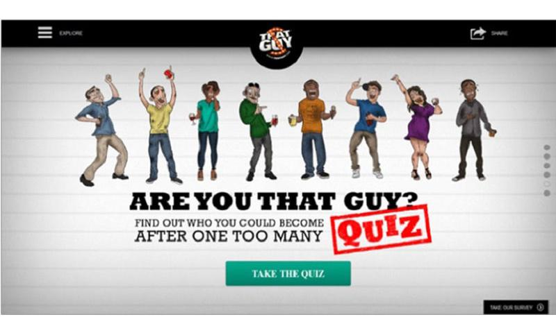 The website ThatGuy.com invites users to take a quiz. (ThatGuy.com)