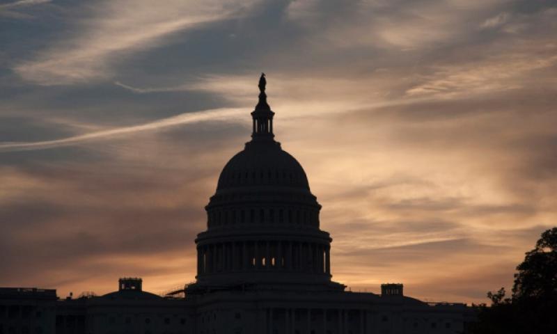The U.S. Capitol, before dawn on Oct. 30, 2016. (Joe Gromelski/Stars and Stripes)