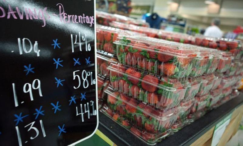 Produce is on display at the commissary on Joint Base Myer-Henderson Hall in 2012. (Rachel Larue/Department of Defense)