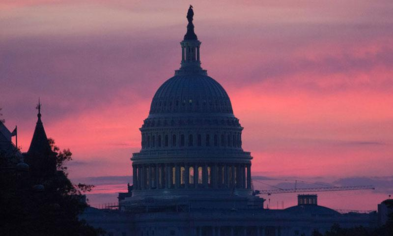 The U.S. Capitol, before dawn on Oct. 30, 2016. (Joe Gromelski/Stars and Stripes)