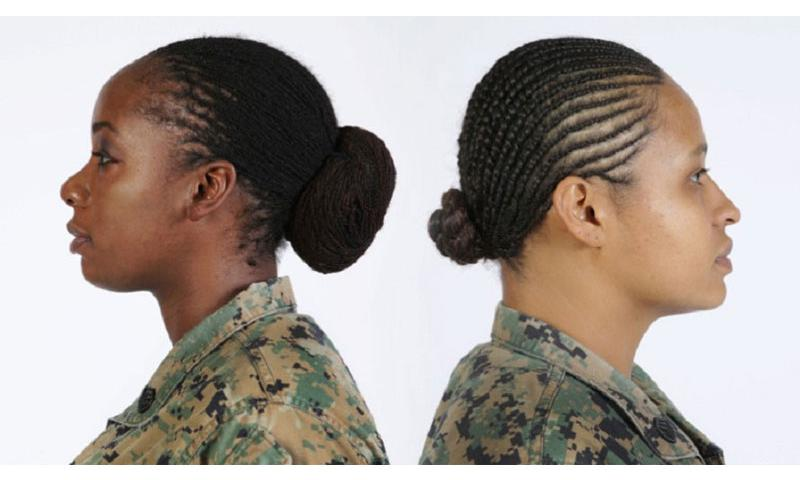 Lock, left, and twist hairstyles are now authorized by the U.S. Marine Corps. (Courtesy U.S. Marine Corps)