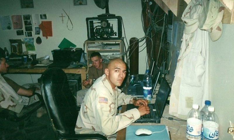 Dr. Dani Molina, U.S. Army veteran (E-4), during Operation Iraqi Freedom, March 2003.