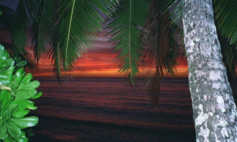 Sunset in Diego Garcia.
