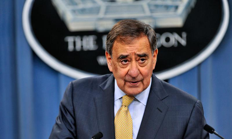 Defense Secretary Leon E. Panetta speaks before introducing Holly Petraeus, Consumer Financial Protection Bureau Office of Servicemember Affairs assistant director, to reporters at the Pentagon, Oct. 18, 2012. DOD photo by Glenn Fawcett